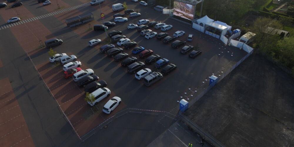 In der Corona-Krise: Autokino in Wismar